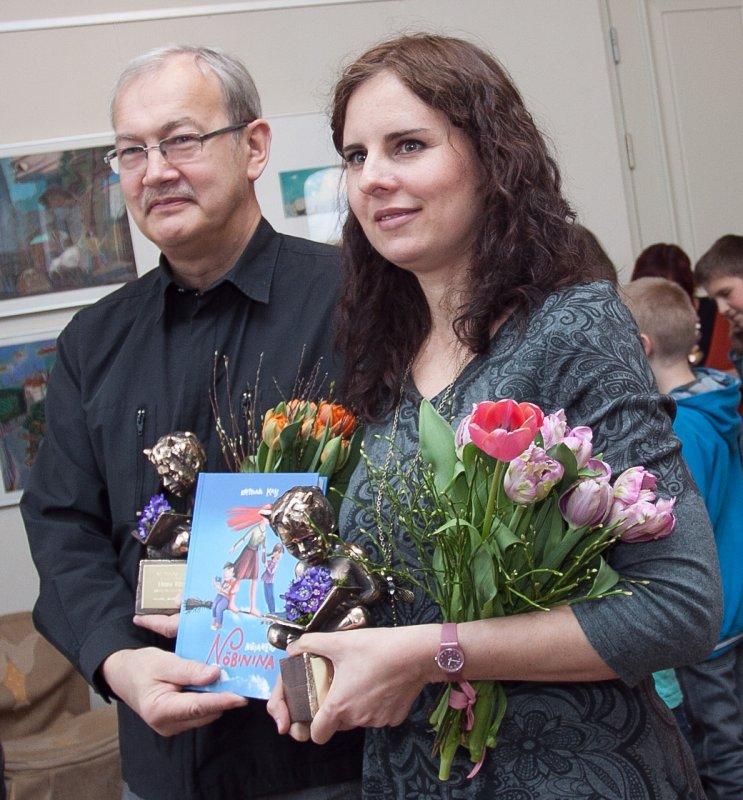 Nukitsa konkursi võitjad 2012, illustraator Heiki Ernits ja lastekirjanik Kristiina Kass