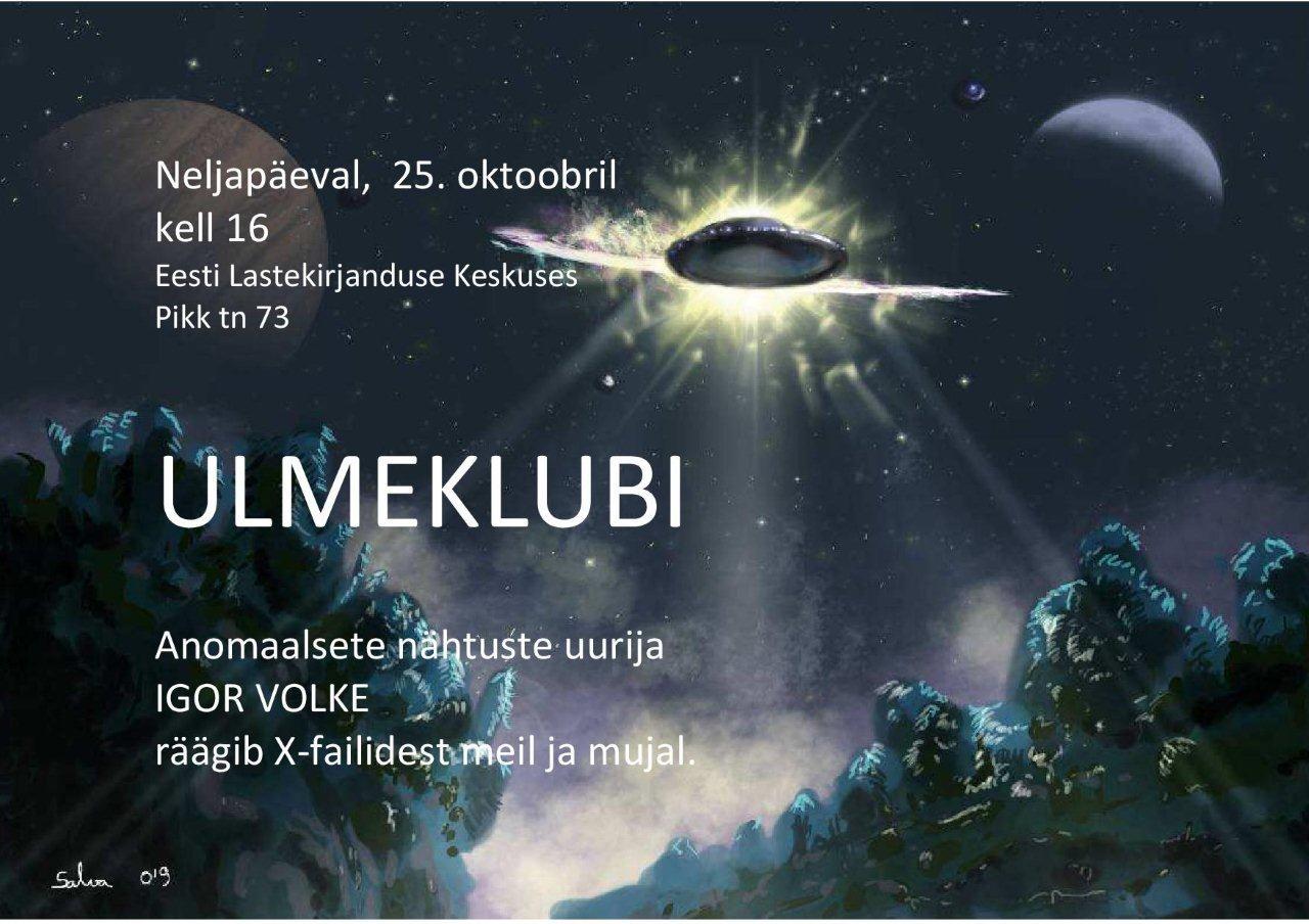 Igor Volke esinemine ulmeklubis, plakat