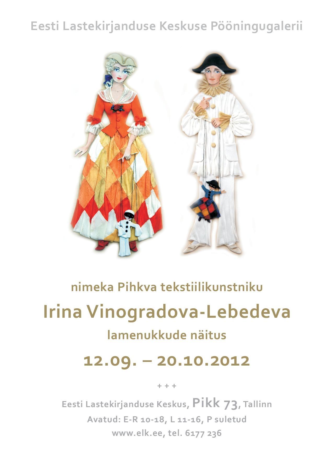Vinogradova Lebedeva näituse plakat