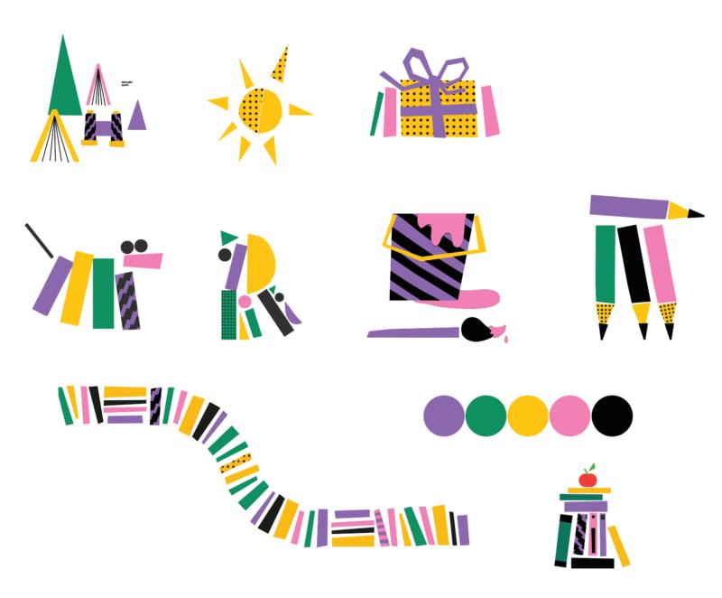 Lastekirjanduse keskuse illustratsioonid