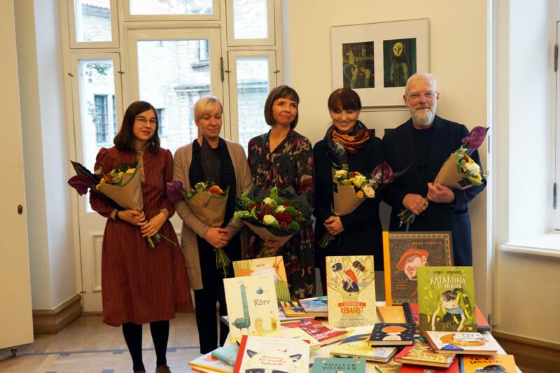 Edgar Valteri nimelise illustratsioonipreemia nominendid 2021 Lucija Mrzljak, Catherine Zarip, Anne Pikkov, Katrin Ehrlich, Urmas Viik